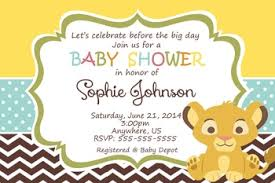 lion king baby shower invitations simba lion king shower invitations baby shower custom