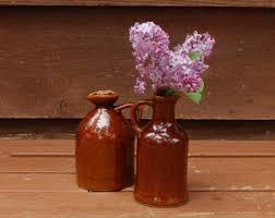 Jug Vases Little Brown Jug Etsy