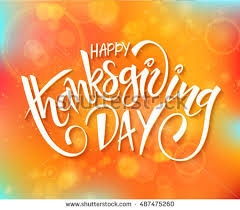 vector thanksgiving day greeting lettering phrase stock vector