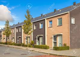 street of modern family houses in europe stock photo picture and