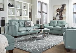 livingroom pc 2 195 00 marcella spa blue leather 3 pc living room