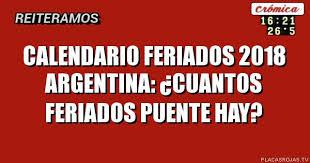 Calendario 2018 Argentina Ministerio Interior Calendario Feriados 2018 Argentina Cuantos Feriados Puente Hay