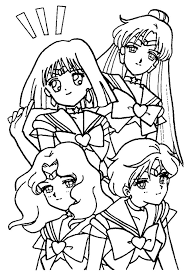sailor mercury coloring page within eson me