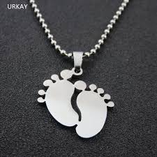 baby dog tags aliexpress buy 3colors silver tone stainless steel baby foot