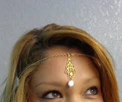 hair chains forehead pendant with coin pearl gold hair chains aftcra