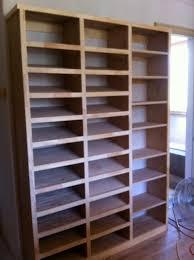 custom shoe rack in a closet in my carpentry work