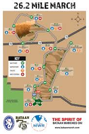 Spirit Route Map by About The Course U2013 Bataan Memorial Death March