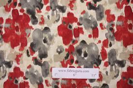 Red Drapery Fabric Yards Robert Allen Landsmeer Printed Linen Drapery Fabric In Currant