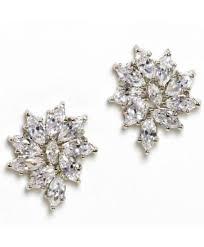dramatic earrings calla pave dramatic earrings