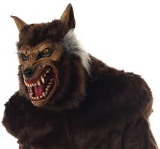 Wolf Mask Werewolf Deluxe Mask
