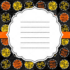 halloween colors background happy halloween trick or treat white black yellow orange round