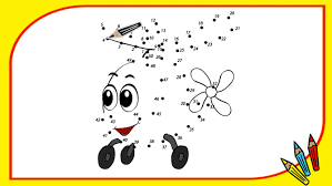 coloring book dot to dot helicopter learn numbers in english baby