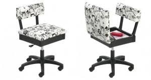 horn gaslift sewing chair u2013 black and white janome sewing centre