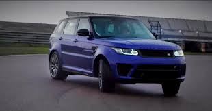range rover svr range rover sport svr gets sideways in dynamic driving video