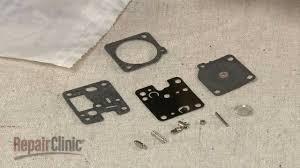 echo string trimmer carburetor rebuild kit installation rb 123