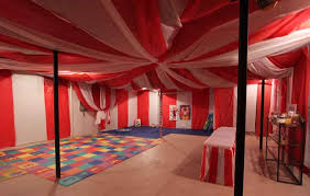 how to decorate an unfinished basement for a party google search