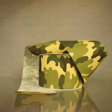camouflage ribbon 40 green cotton camouflage ribbon