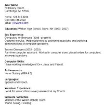 Sample Resume Examples For College Students by Teen Resume Example Best 25 Job Resume Examples Ideas On