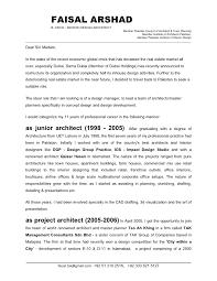 cover letter for architect faisal arshad cover letter jan 09fnl