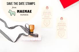 Save The Date Stamps Save The Date Stamps From Maemae Paperie Green Wedding Shoes