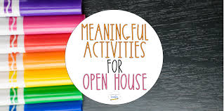 meaningful activities for open house tales from a very busy teacher