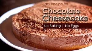 how to make chocolate cheese cake pie no baking no eggs