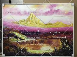 online shop hand painted art painting colorful gold mountain wall