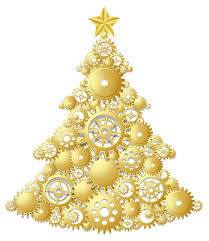 gold christmas gold christmas tree clipart clipartxtras