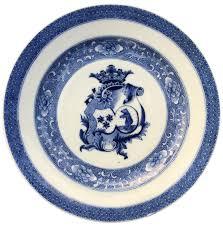 assiette de porcelaine assiette greven porcelaine chine bleu qianlong armoiries