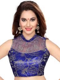 saree blouse ishin blue saree blouse shopping at koovia com