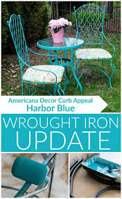 Painting Wrought Iron Patio Furniture by 97 Best Curb Appeal Images On Pinterest Curb Appeal Outdoor
