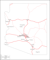Arizona City Map by Arizona Free Map Free Blank Map Free Outline Map Free Base Map