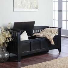 Entry Storage Bench With Coat Rack Decorating Black Wooden Entryway Storage Bench With Storage