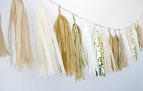 gold champagne tassel garland metallic neutrals wedding