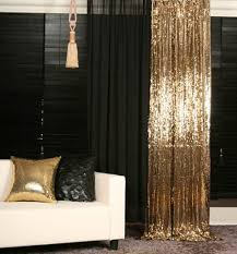 Black Gold Curtains Details About Gold Sequins Beaded Curtain Drapery Panel Room