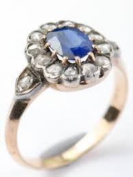 antique rings sapphire images Vintage antique sapphire engagement rings topazery jpg