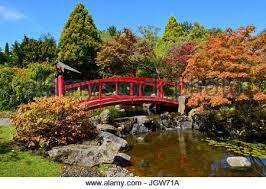 Botanic Gardens Hobart Japanese Garden Tasmanian Botanical Gardens Hobart Stock Photo