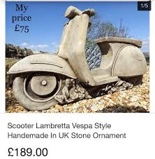 scooter lambretta garden ornaments 75 from 189 in