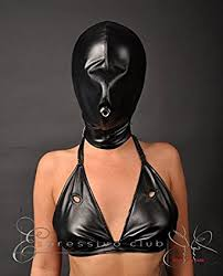 leather mask sensory deprivation vegan leather mask with leather lined front