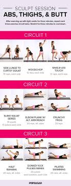 workout for abs and thighs popsugar fitness