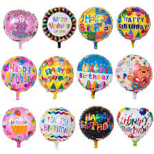 helium birthday balloons mixed globos batch happy birthday balloons aluminium foil