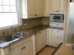 Kitchen Cabinets Painted Two Colors Distressed Kitchen Cabinets Cabinet Painting And Distressing