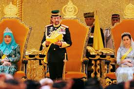 sultan hassanal bolkiah diamond car sultan of brunei golden jubilee gilded chariot procession marks
