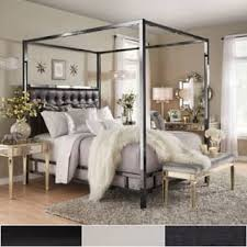 Black Four Poster Bed Frame Poster Bed For Less Overstock