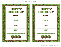 minecraft birthday invitations lilbibby com