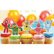 yo gabba gabba cake toppers 5 pieces birthdayexpress
