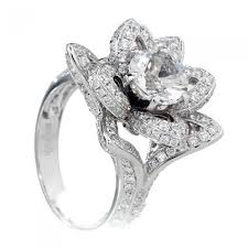 lotus flower engagement ring lotus flower diamond engagement solitaire ring semi mount