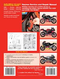 aprilia rs50 99 06 u0026 rs125 93 06 haynes repair manual