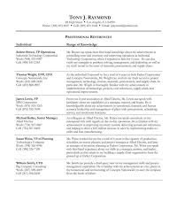 Sample Reference Sheet For Resume by Format For Resume References Page Good Thesis For An