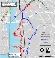 Maryland Metro Map by Metrobus Service Changes June 25 Wmata